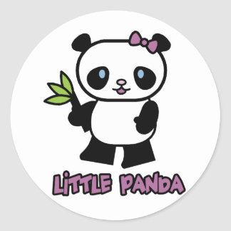 Little Panda Classic Round Sticker