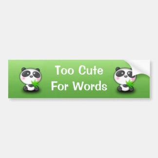 Little Panda Cub Car Bumper Sticker