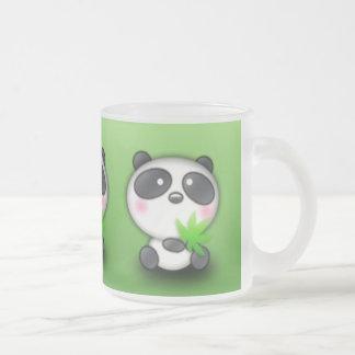 Little Panda Cub Frosted Glass Coffee Mug