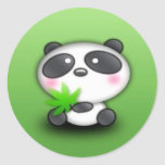 Little Panda Cub Round Stickers