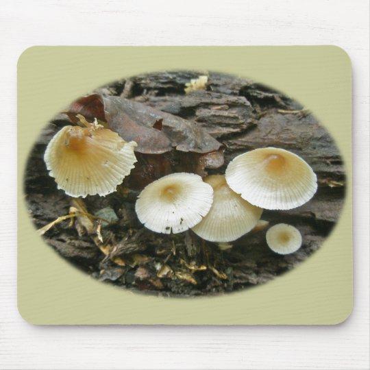 Little Parasols Mushrooms on Log Mouse Pad