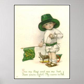 Little Patrick Vintage Print