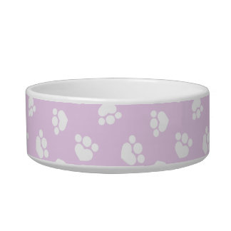 Little Paw Print Hearts Thistle Kitty Bowl