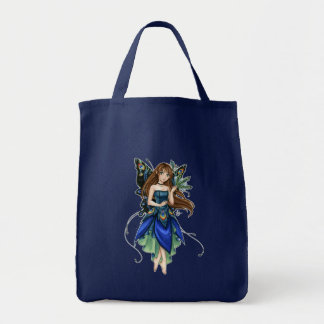 Little Peacock Fairy grocery tote Tote Bags