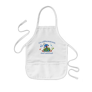 Little Peacock Short and Stout Kids' Apron