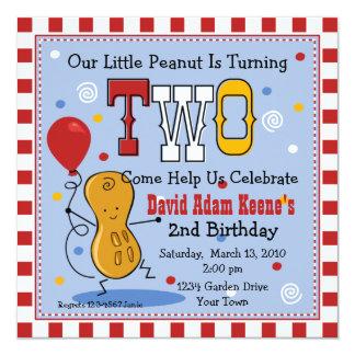 Little Peanut 2nd Birthday Party Invitation