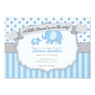 *Little Peanut* Baby Elephant Themed Invitation