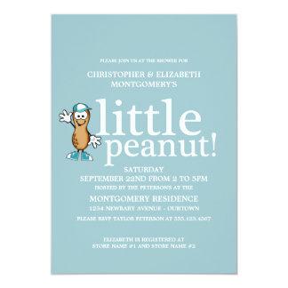 Little Peanut (Blue) Baby Shower Card