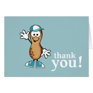 Little Peanut (Blue) Thank You Card