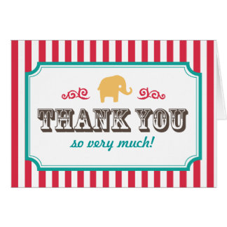 Little Peanut Circus Baby Shower Thank You Card