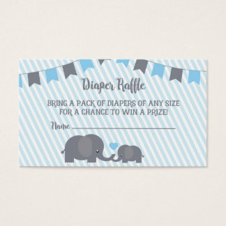 Little Peanut Diaper Raffle Card Insert for Invite