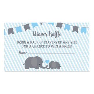 Little Peanut Diaper Raffle Card Insert for Invite Business Card