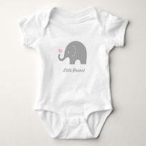 Little Peanut Elephant Baby Bodysuit, Pink Heart Baby Bodysuit