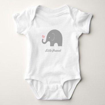 Toddler & Baby themed Little Peanut Elephant Baby Bodysuit, Pink Heart Baby Bodysuit