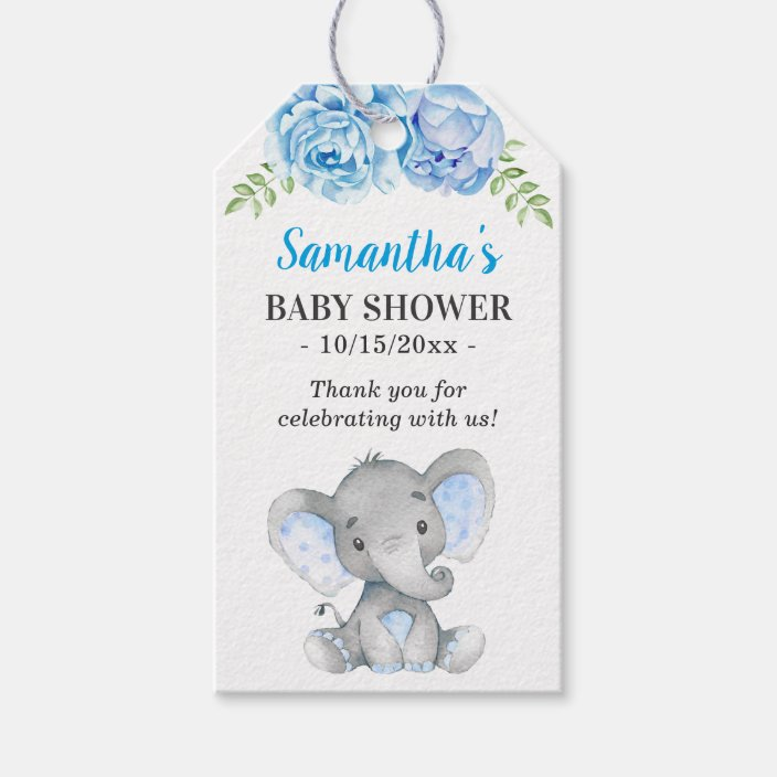 elephant tags Baby Boy Shower  tags Favor tags elephant little peanut Favor Tags 2.5/'/' Gift tags Thank You tags gender neutral