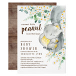 Little Peanut Elephant Neutral Baby Shower Invitation