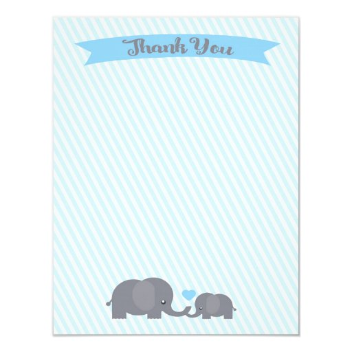 Little Peanut Elephant Thank You note Card