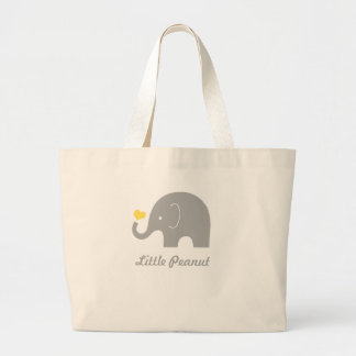 Little Peanut Elephant Tote Bag, Yellow Heart