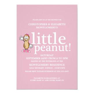 Little Peanut (Pink) Baby Shower Card