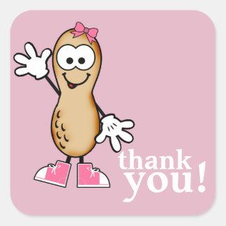 Little Peanut (Pink) Thank You Sticker