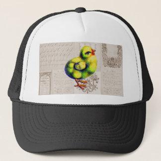 Little Peep on Vintage Typography Trucker Hat