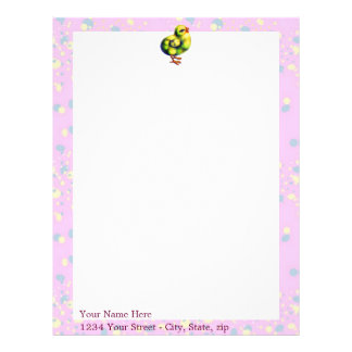 Little Peep's Easter Letterhead