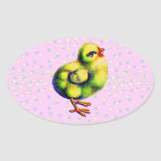 Little Peep's Easter Oval Sticker