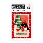Little Penguin. Christmas Postage Stamps