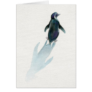 Little Penguin on a Journey, Greeting Card
