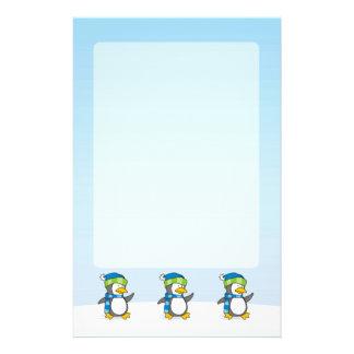 Little penguin walking on snow flyer