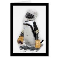 Little  Penguin Wearing Hockey Gear