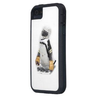 Little  Penguin Wearing Hockey Gear Case For iPhone SE/5/5s