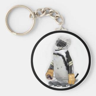 Little  Penguin Wearing Hockey Gear Keychains