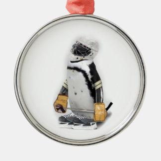 Little  Penguin Wearing Hockey Gear Ornament