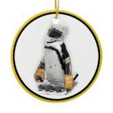Little  Penguin Wearing Hockey Gear Ornaments
