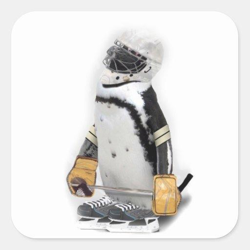 Little  Penguin Wearing Hockey Gear Sticker