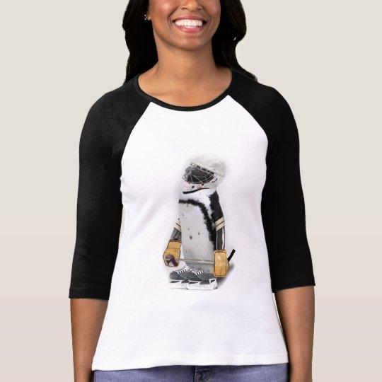 Little  Penguin Wearing Hockey Gear T-Shirt