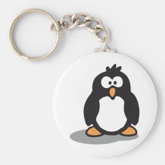 Little Penguin white Basic Round Button Keychain