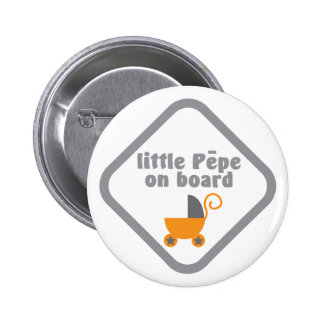 Little Pepe (Maori baby) on board Pinback Button