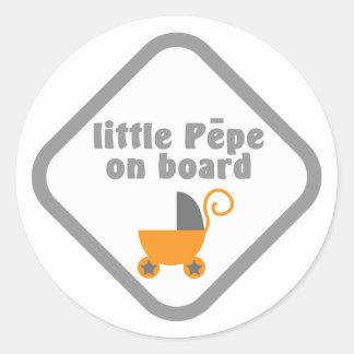 Little Pepe Maori baby on board Stickers