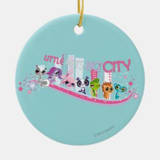Little Pets Big City Ceramic Ornament