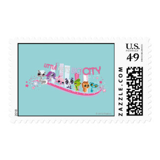 Little Pets Big City Postage Stamps