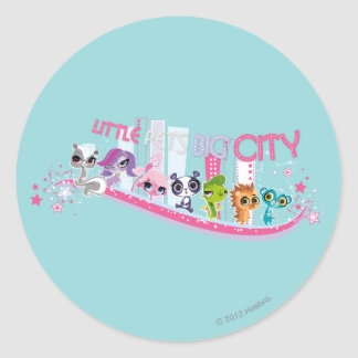 Little Pets Big City Round Stickers