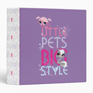 Little Pets Big Style 1 3 Ring Binder