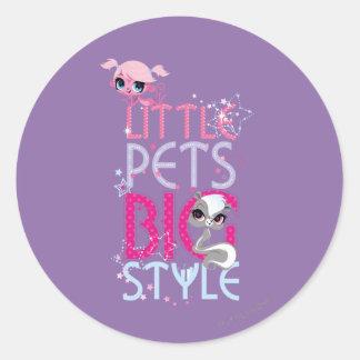Little Pets Big Style 1 Classic Round Sticker