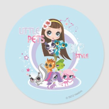 new,or,pet Little Pets Big Style 2 Classic Round Sticker