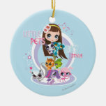 Little Pets Big Style 2 Double-Sided Ceramic Round Christmas Ornament