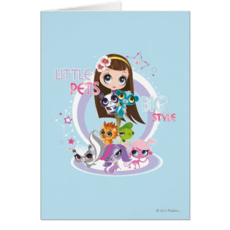 Little Pets Big Style 2 Greeting Card