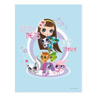 Little Pets Big Style 2 Postcard