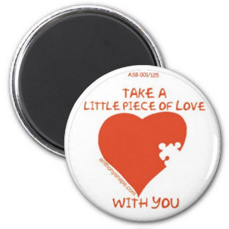 Little Piece of Love with you 2 Inch Round Magnet